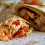 Grilled Pepper Shrimp Wrap recipe