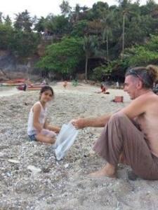 Beach clean 1 michael maya